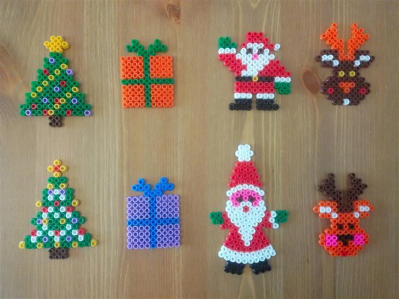 Lavoretti Di Natale Con Perline.Pyssla Hama Beads Natale Christmas Pyssla Hama Beads