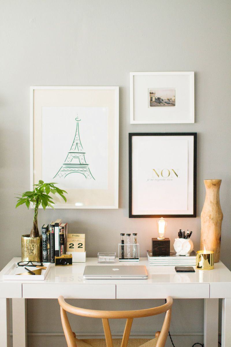 How to Style the West Elm Parsons Desk. Small Home Office ...