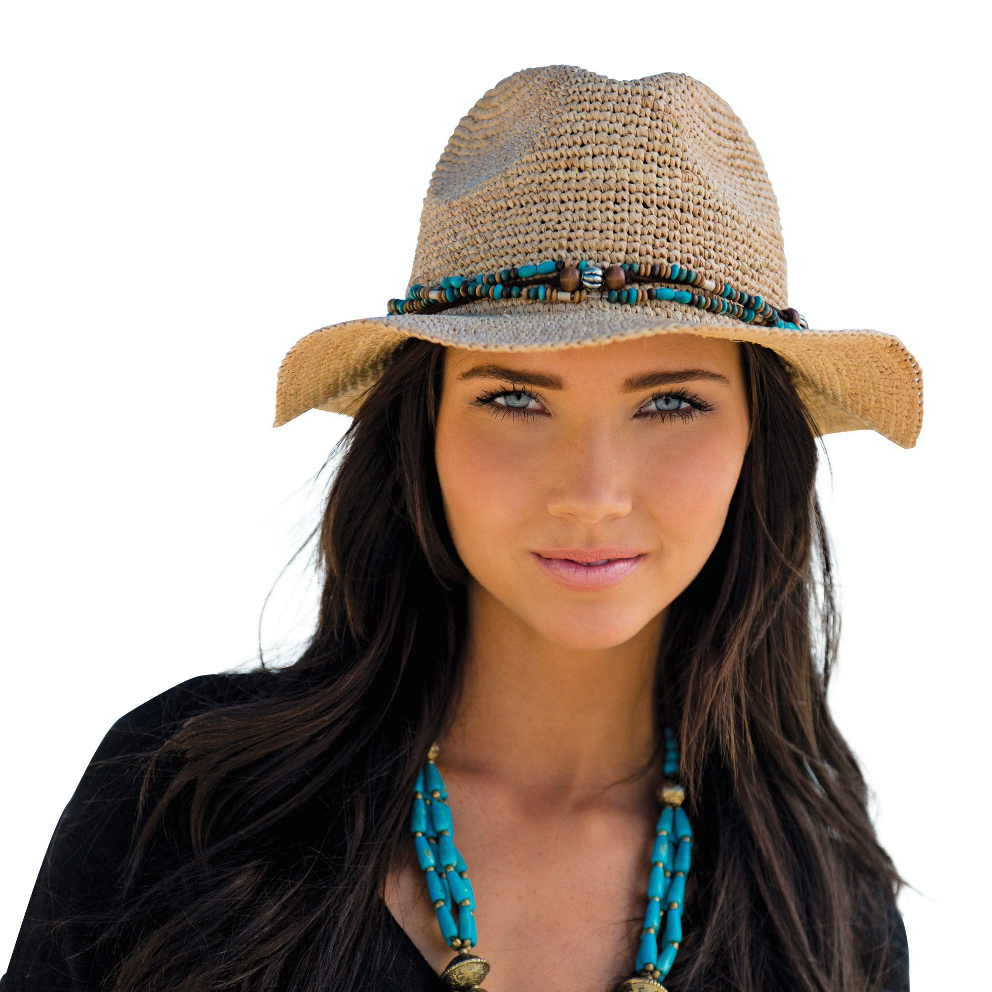 d69d48e9699 Kooringal Ladies Fedora Bora Bora Womens Sun   Beach Hat (Natural ...