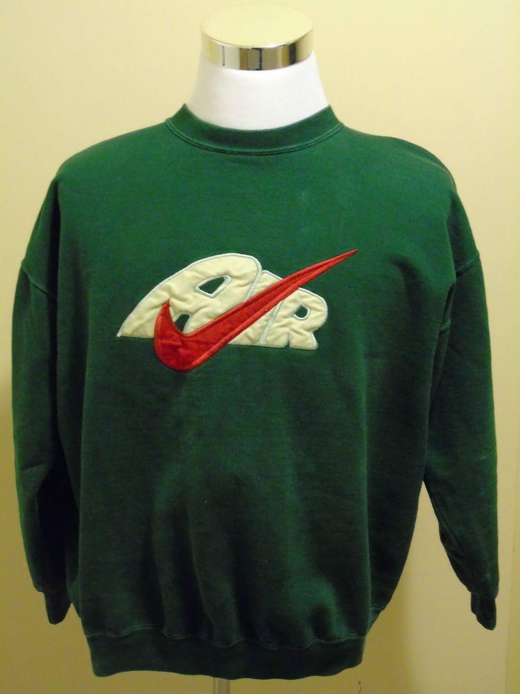 Vintage Nike Air crew neck Sweatshirt Green Made in USA Size XL ...