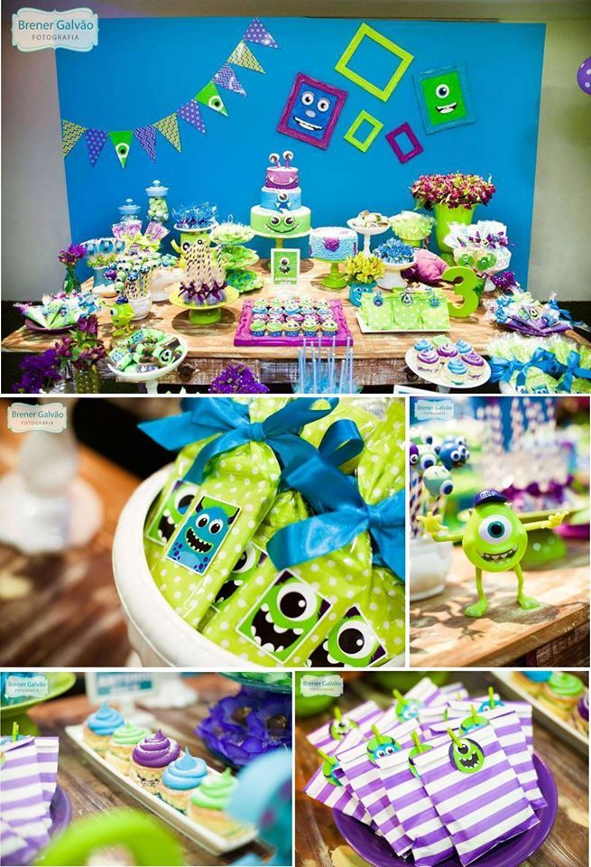 Monster Inc Party With Images Monster Inc Birthday Monster