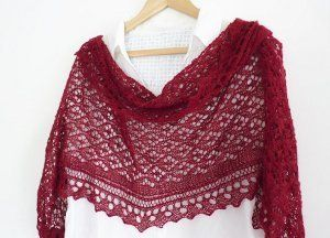 Lace Dreams Shawl free pattern for the intermediate knitter