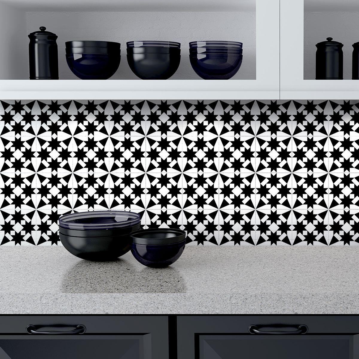 Épinglé par Ambiance Stickers sur 60 Stickers carrelages tiles arabesque nuance de gris ...