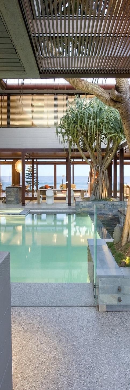 Parede de vidro para trecho de piscina