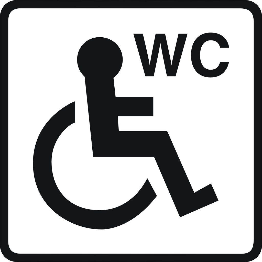 Toilet Signs 5 Vinyl Disabled Wheelchair Unisex Ladies Or Gents Wc Door Sticker Enhance With Vinyl Door Stickers Toilet Sign Toilet Icon