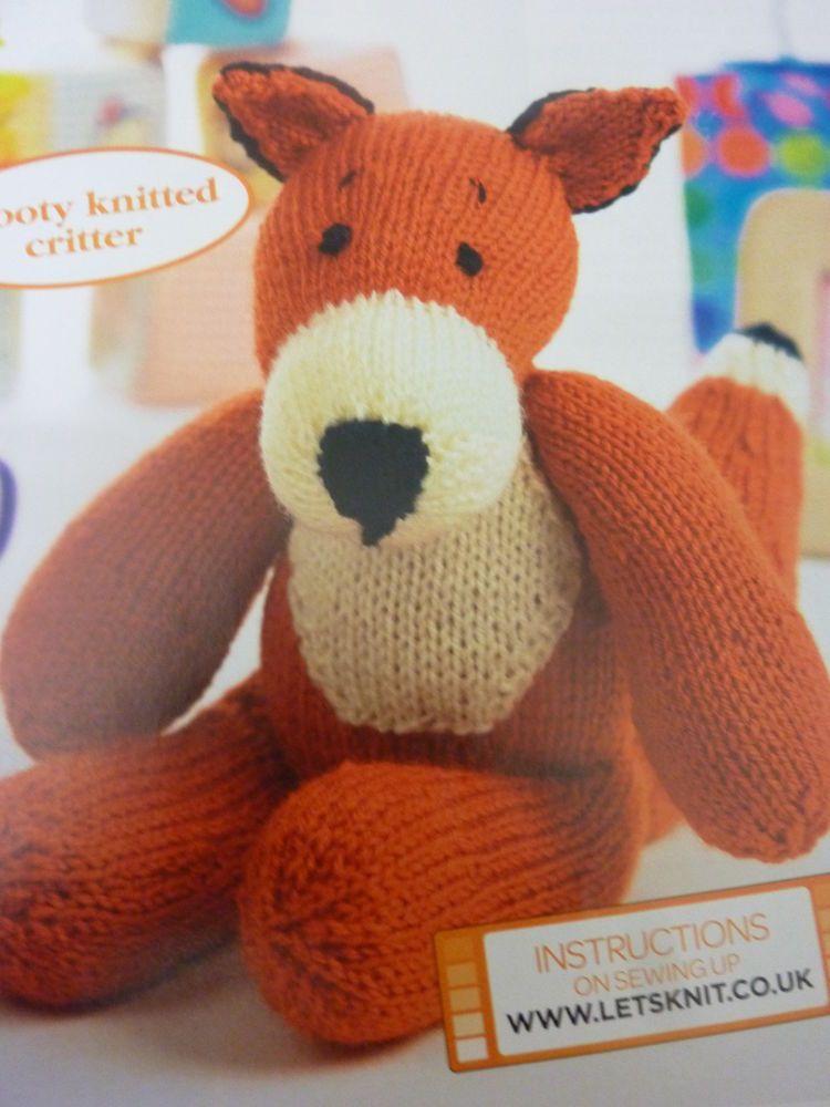 Knitting Pattern By Val Pierce Cute Ferdinand Fox Toy In Dk 12ins