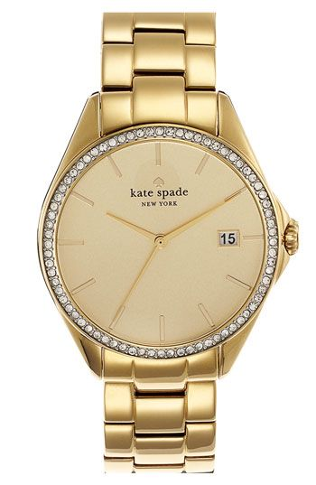 kate spade new york 'seaport grand' crystal bracelet watch available at #Nordstrom