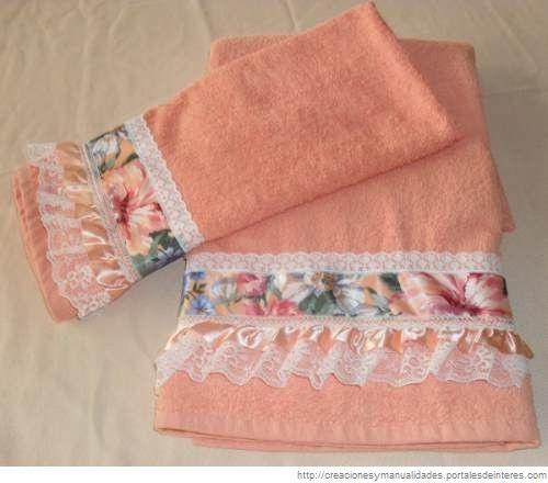 Manualidades En Toallas Decoradas Imagui Toallas Decoradas - Decoracion-con-toallas