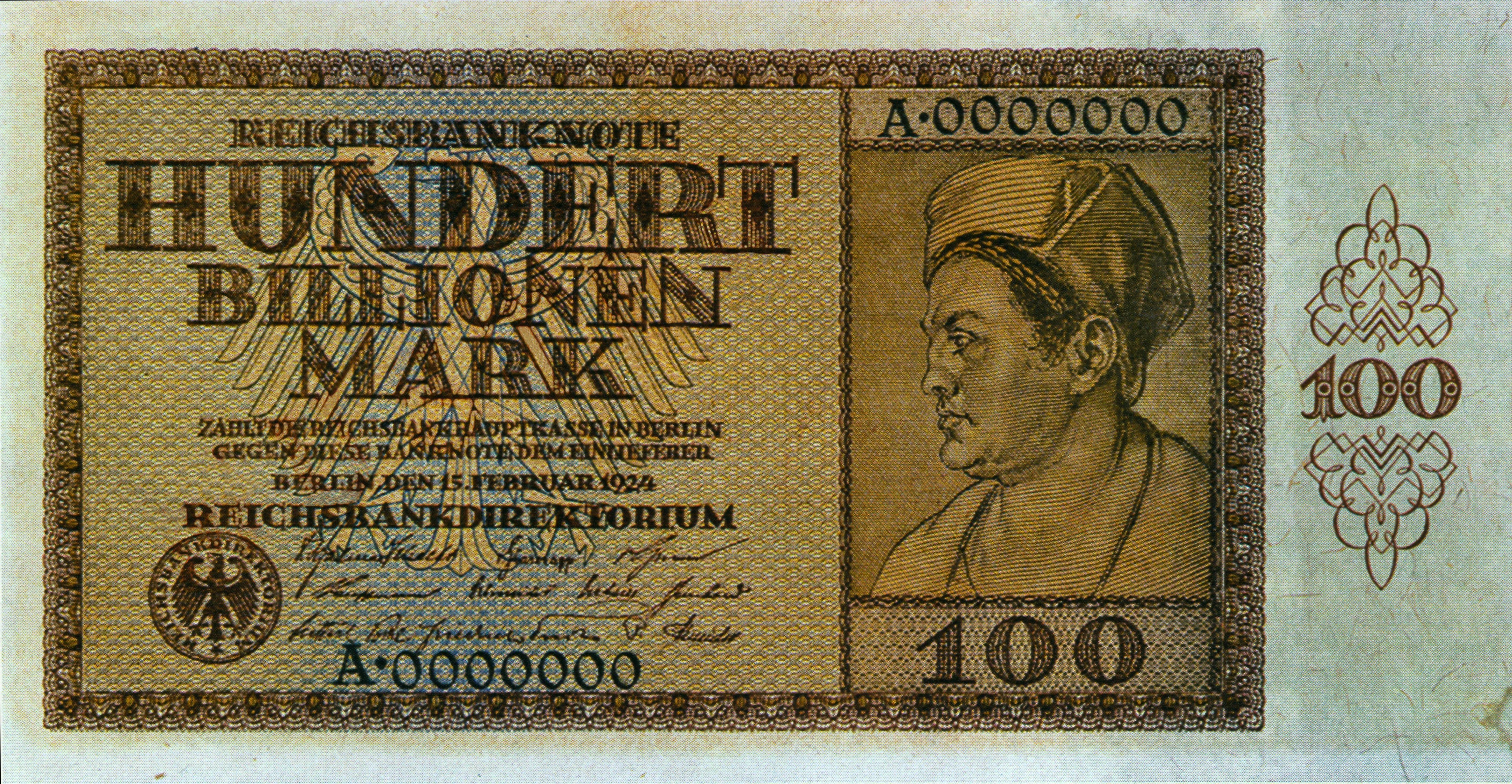 100 Billionen Geldschein Inflation Pinterest Geld Weimarer
