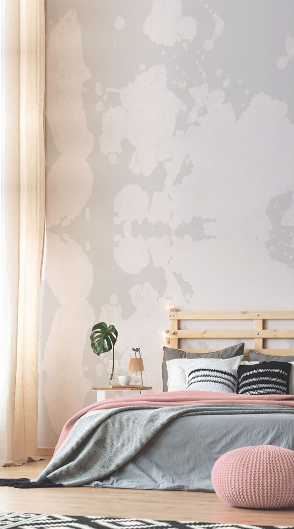 Poster Murali White And Grey Rorschach With Images Boho Wallpaper Simple Bedroom
