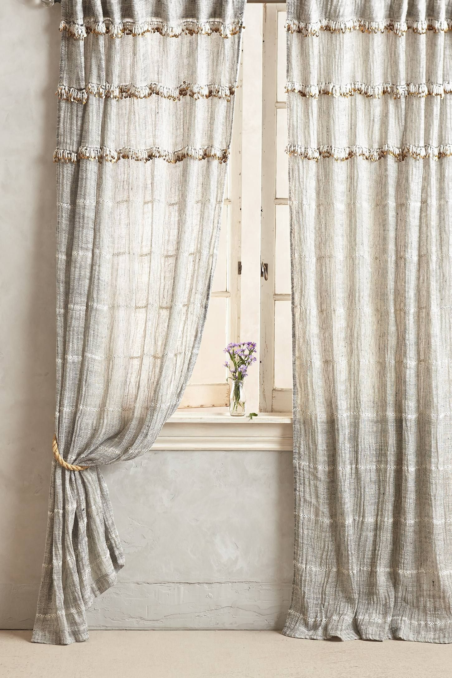 Shop The Graduated Tassel Curtain And More Anthropologie At Anthropologie Today Read Customer Reviews D Tassel Curtains Home Curtains Anthropologie Curtains