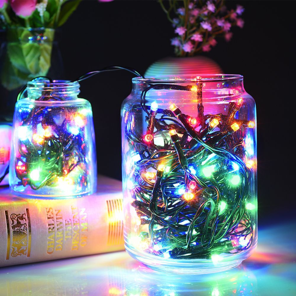 Solar 100 led string lights outdoor waterproof multicolor decorative lights solar 100 led string lights outdoor workwithnaturefo