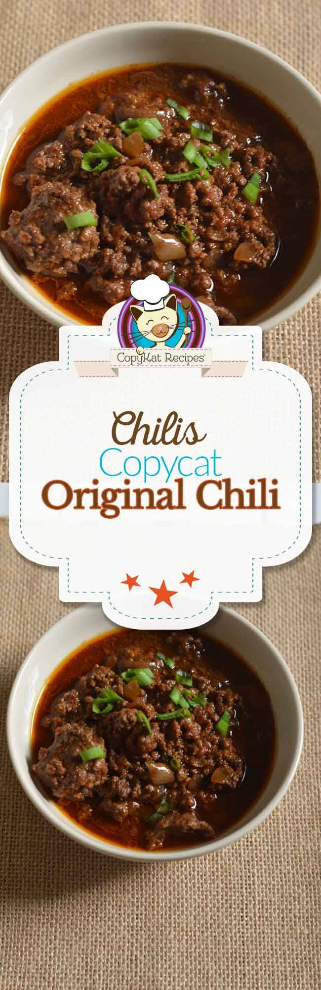 Chilis Original Chili | Recipe | Chilis, Classic recipe and Ground meat