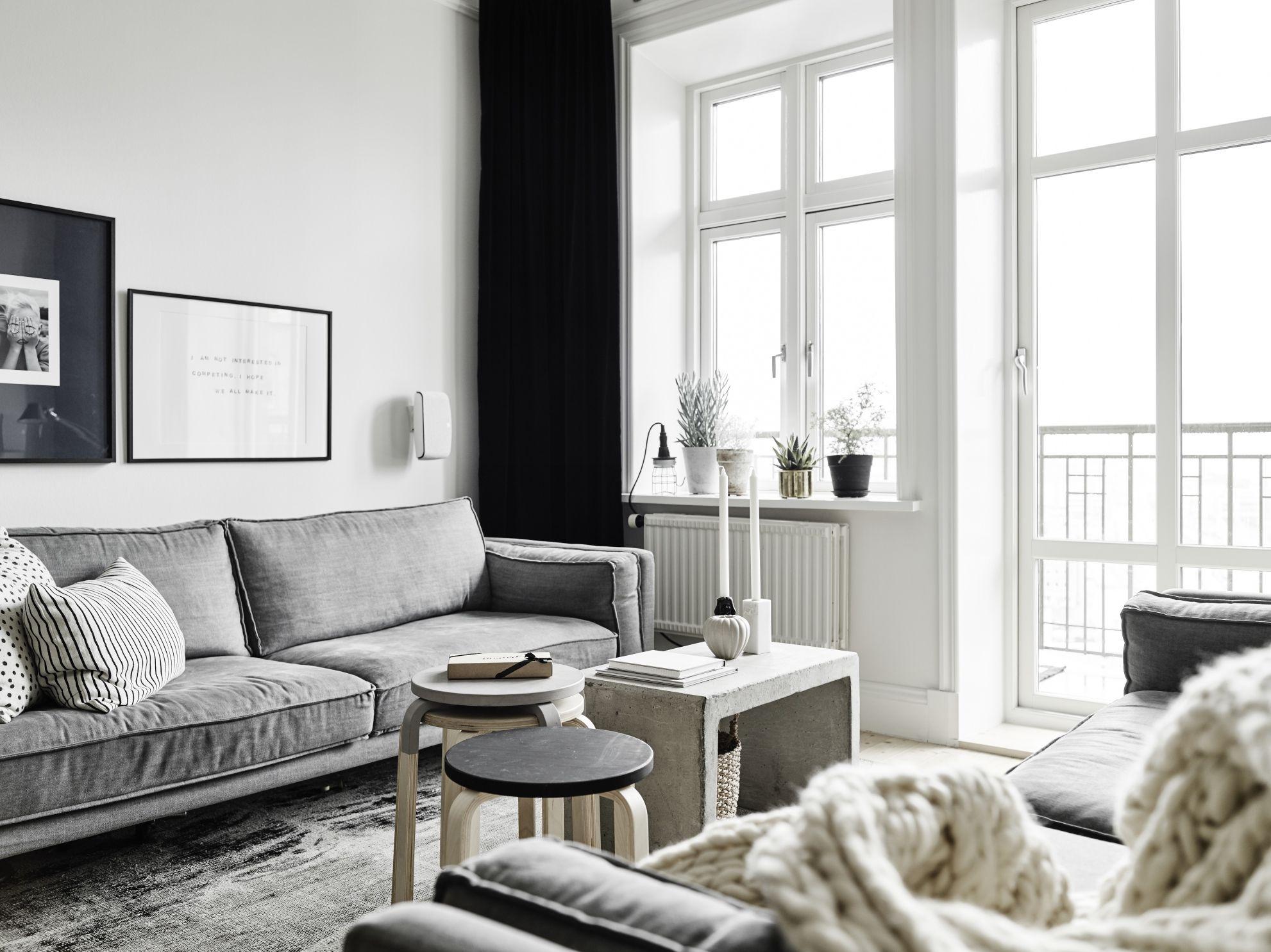 Witte Zweedse Woonkamer : Het lijkt net alsof de beelden van dit zweedse huis in zwart wit