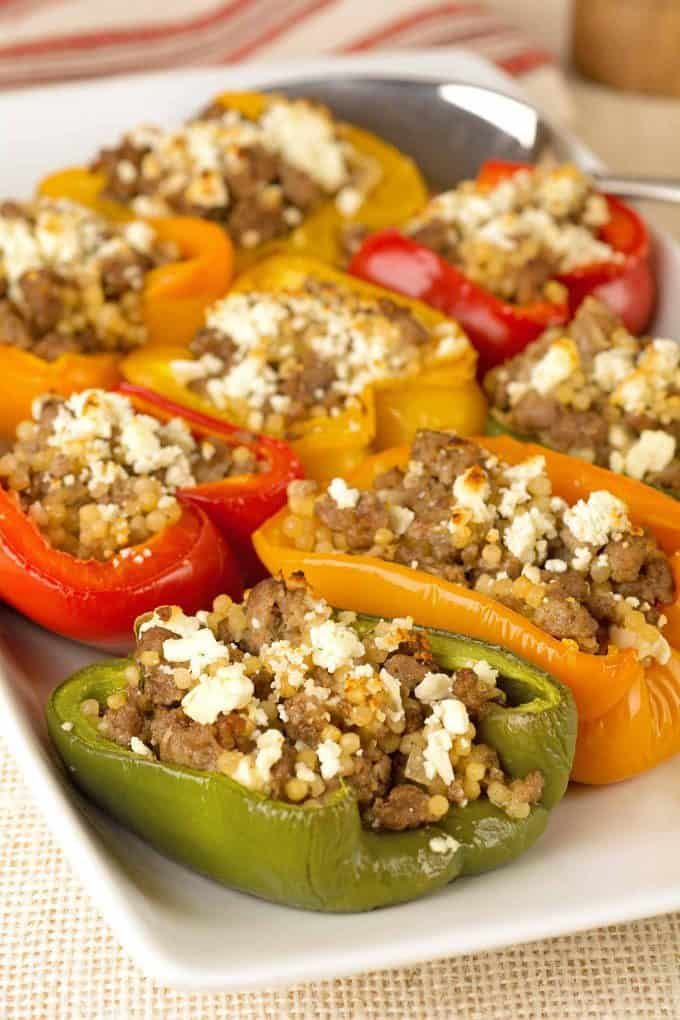 Mediterranean Lamb Stuffed Peppers Recipe Peppers Recipes Ground Lamb Recipes Lamb Recipes