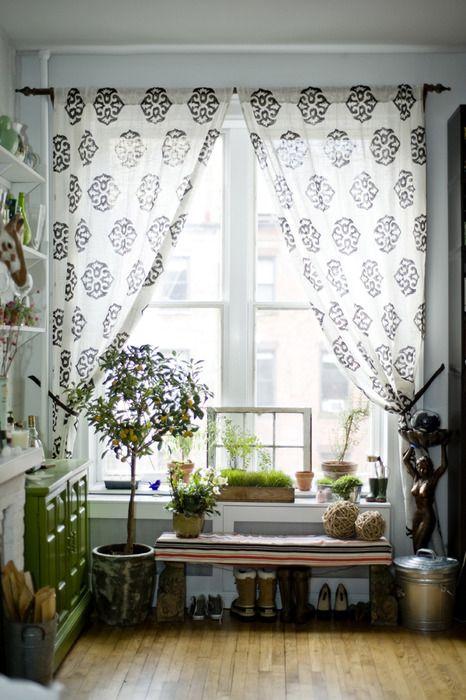 Window Plantscurtains Bench Etc