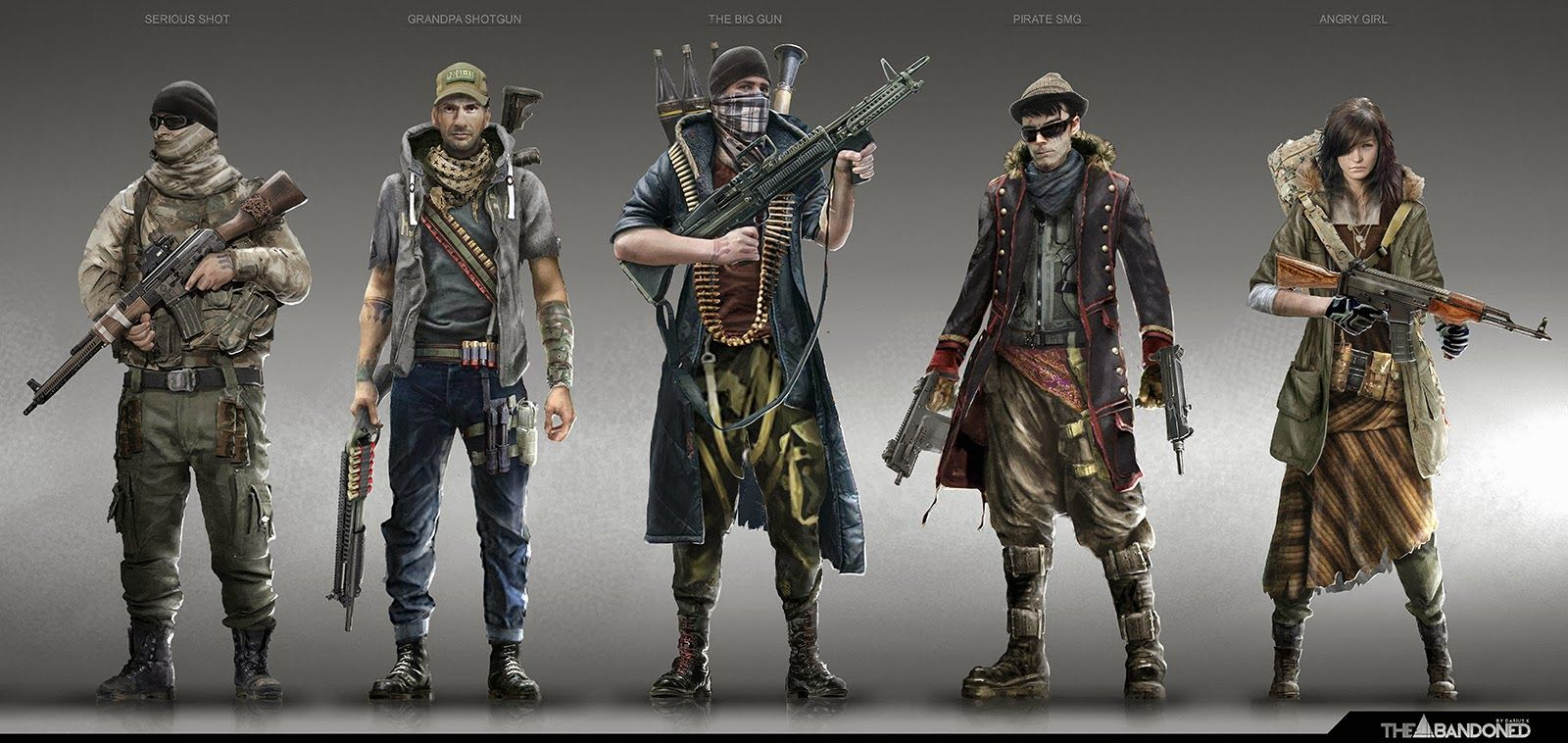 Post-apocalyptic character designs