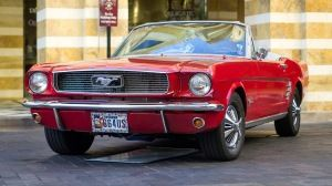 Preview Wallpaper 1966 Mustang Red Convertible 1366x768