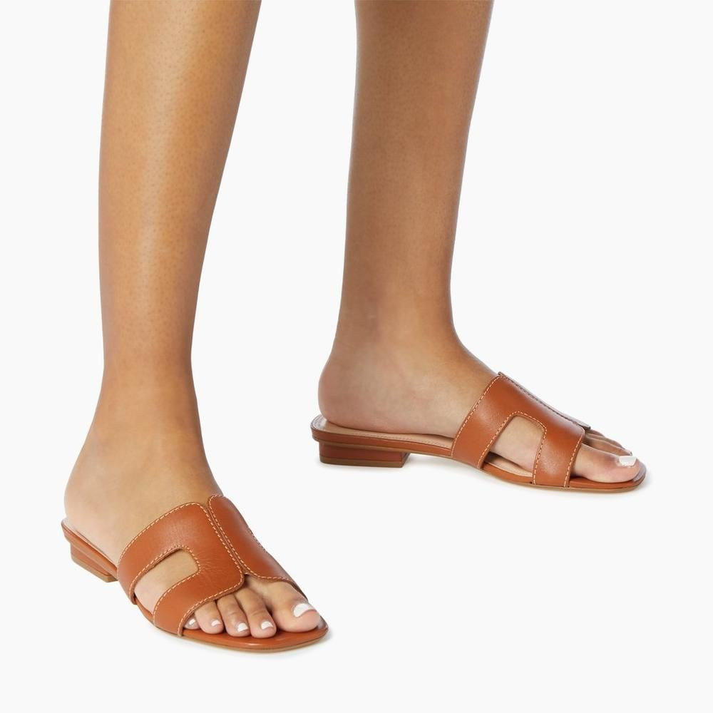 LOUPE - Smart Slider Sandals - tan