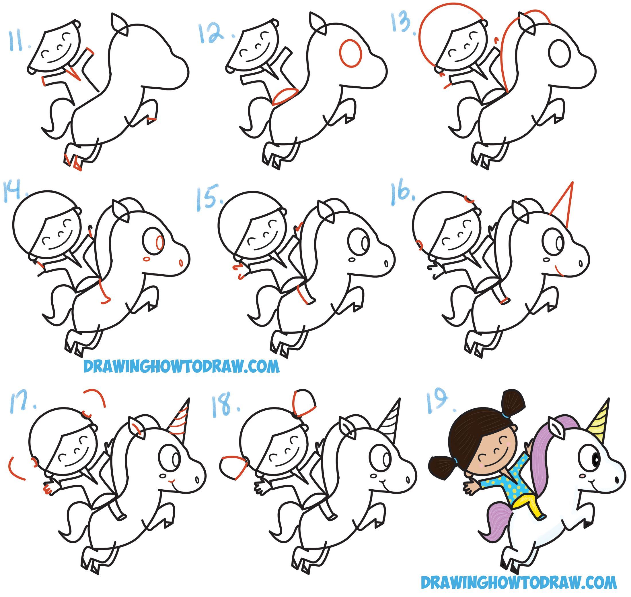 unicorn how to draw step by step