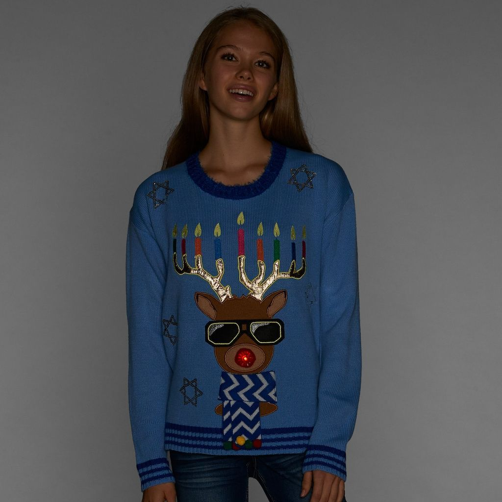 Juniors Its Our Time Light Up Hanukkah Sweater Products