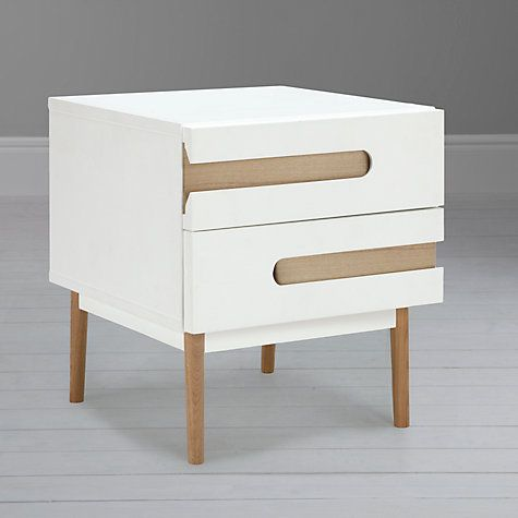 House By John Lewis Notch 2 Drawer Bedside Table Table