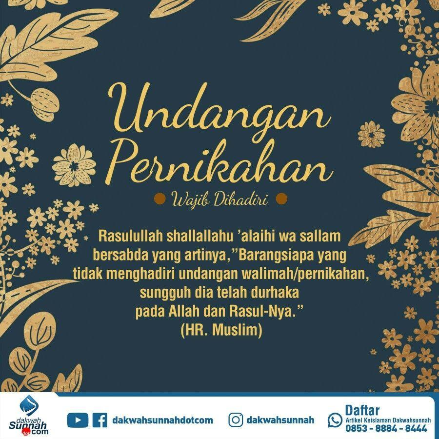 Contoh Undangan Syukuran Pernikahan Islami Kata Kata Mutiara Cute766