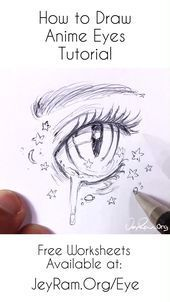 How to draw female anime eyes: step by step for beginners PDF by JeyRam Learn how to draw beautiful female anime eyes with this ... - #anime #beautiful #beginners #female #jeyram #learn - #new