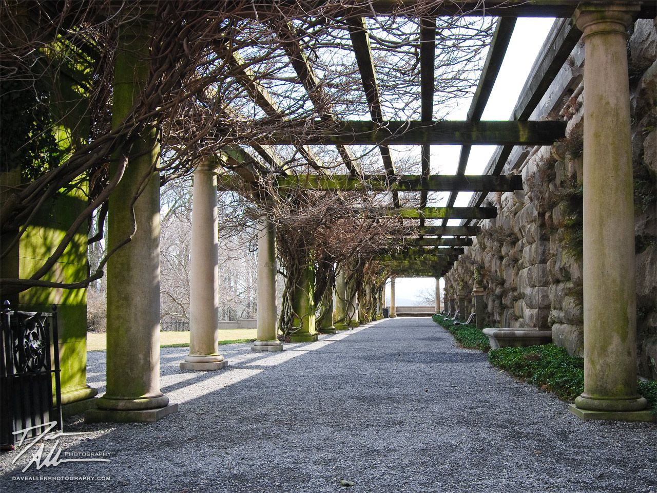 Italian Estate Garden Walkway Biltmore