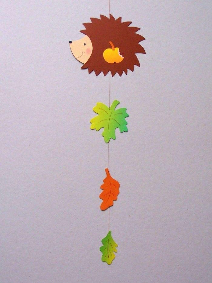 Fensterbilder basteln - 64 DIY Ideen für stimmungsvolle Herbstdekoration #herbstfensterdekokinder