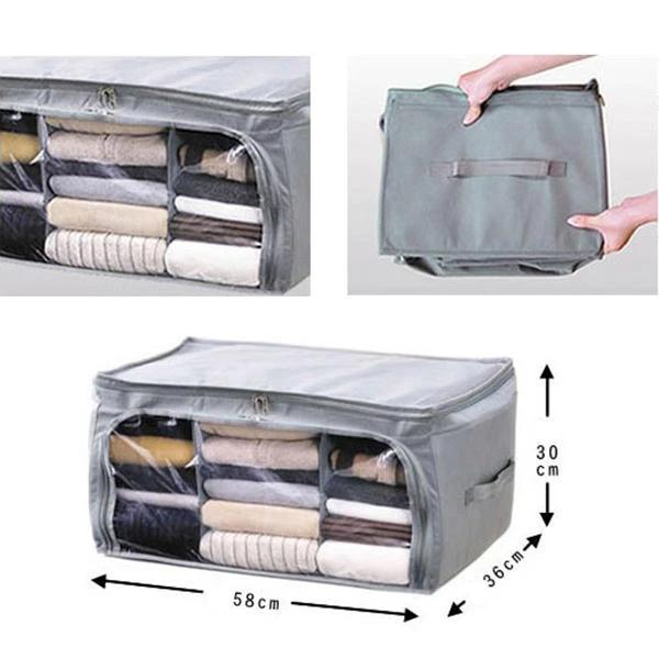Non Woven Fabrics Clothes Quilt Storage Bags Travel Bag In 2020 Quilt Storage Storage Bags For Clothes Bag Storage