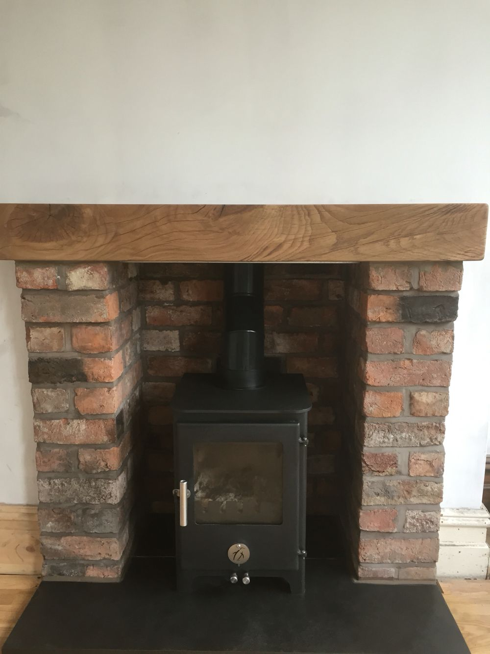 Oneillbrickwork Stove Oakbeam Slatehearth Brickwork