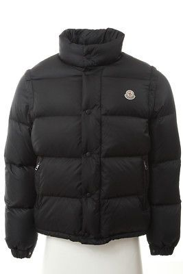 636bd0d33cce MONCLER Mens 0660 Black Removable Sleeve 2 in 1 Vest Puffer Coat 1 ...