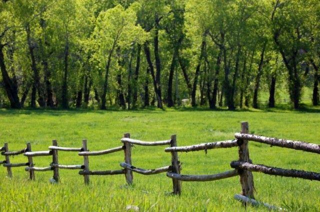 Cloture Bois Rustique Style Ranch Rustic Fence Fence Design