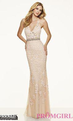 Long V Neck Lace Dress Mori Lee Prom