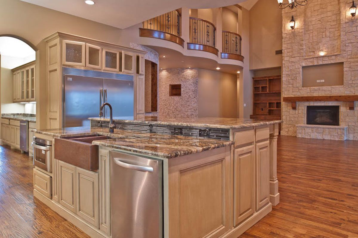 Kitchen island with sink and cooktop new home ideas - Kitchen island with sink and dishwasher and seating ...