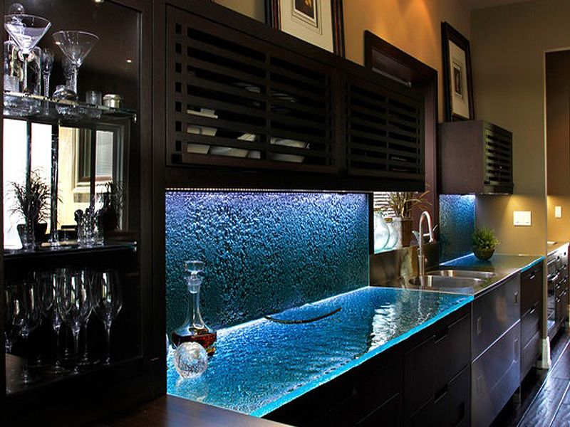 Attractive Glass Countertops For Kitchen Ideas With Pictures More