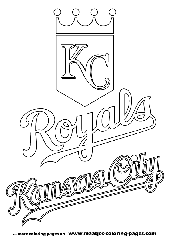 More Major League Baseball Coloring Pages On Maatjes Coloring Pages Com Kansas City Royals Logo Kansas City Royals Crafts Coloring Pages