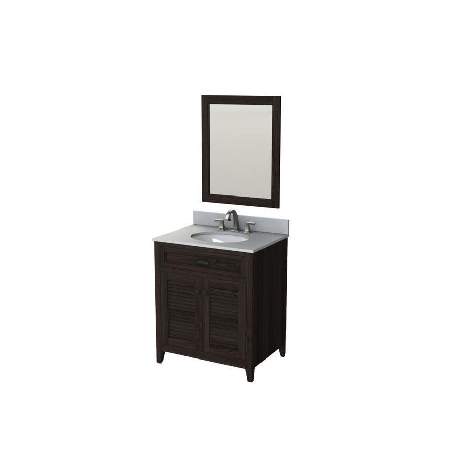 Scott Living Kinston Mocha Undermount Single Sink Bathroom Vanity ...