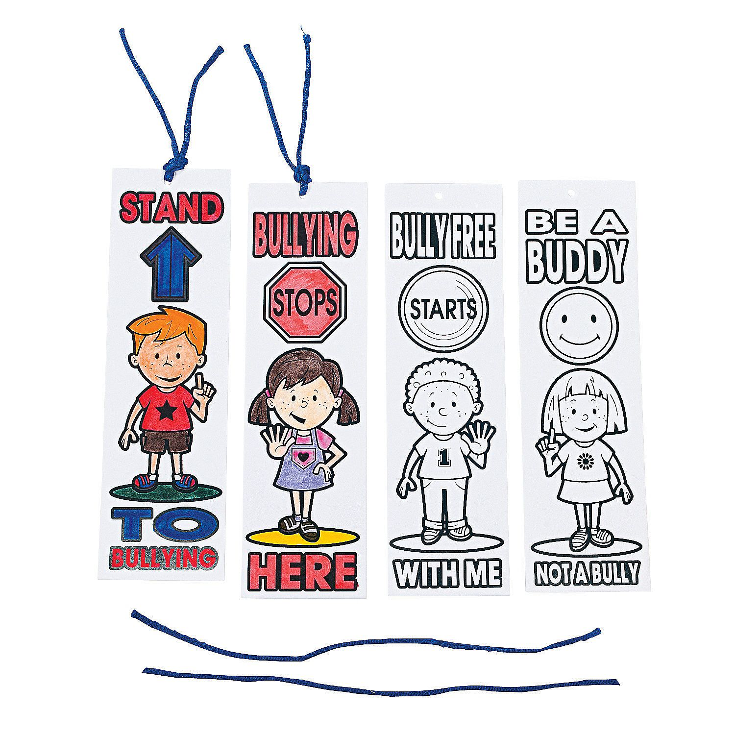 Color Your Own Anti Bullying Bookmarks