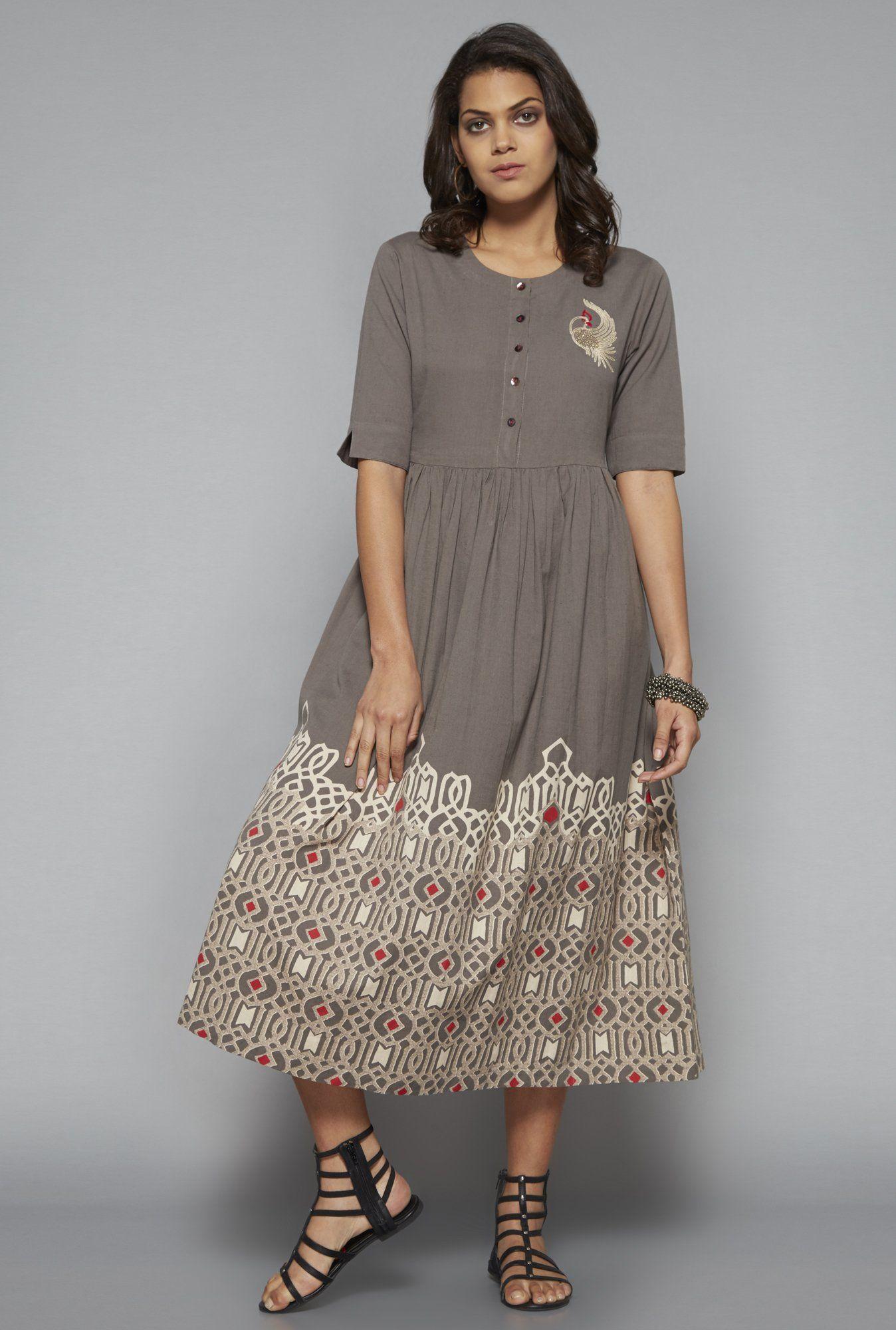 ce5fe94e74ed0 Bombay Paisley by Westside Grey Dress