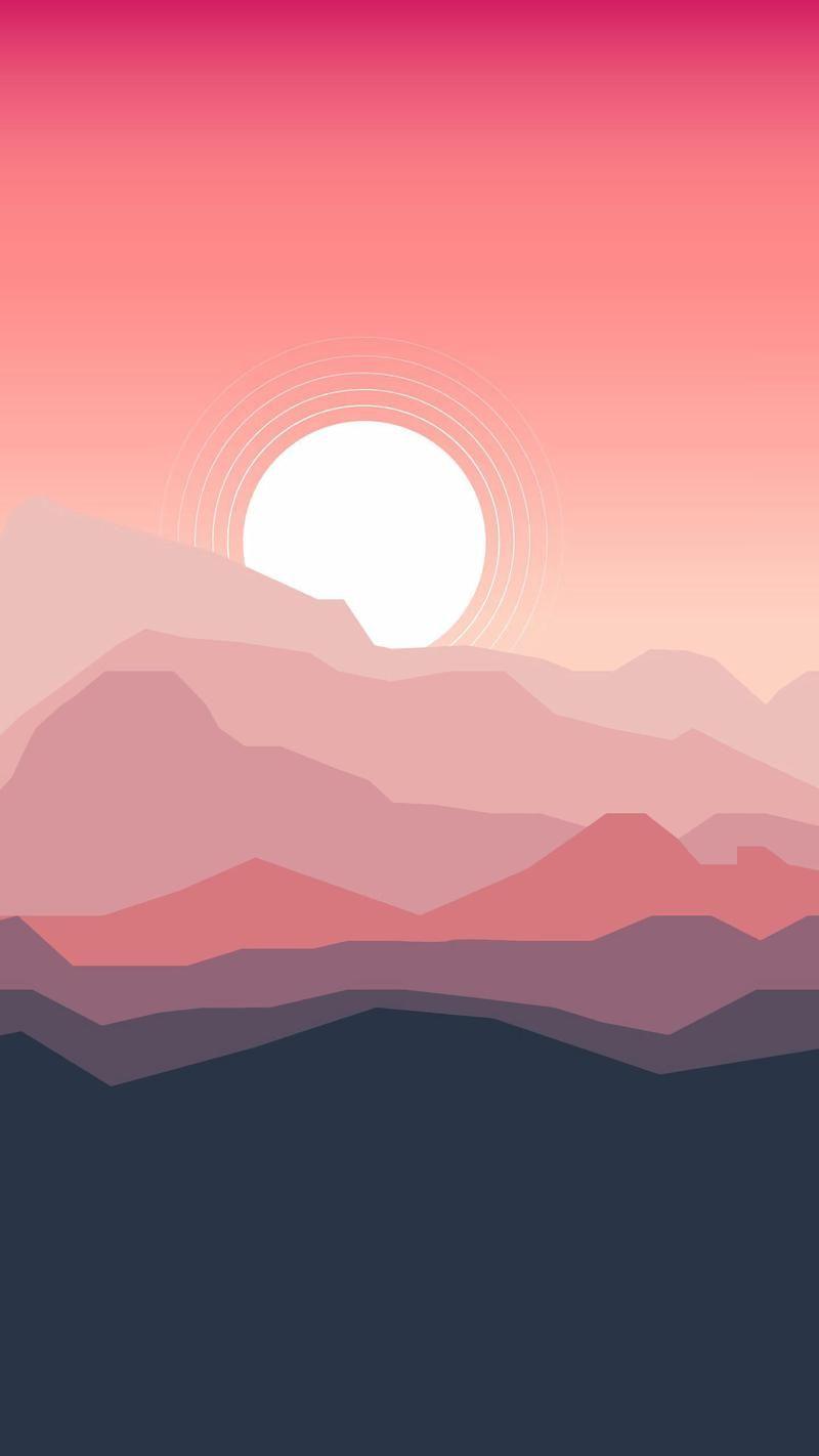 Wallpaper Day Sunset Vector Landscape Mountains Art For Hd 4k Wallpaperday For Desktop Mobile Phones Free Downl In 2020 Landscape Wallpaper Wallpaper Landscape