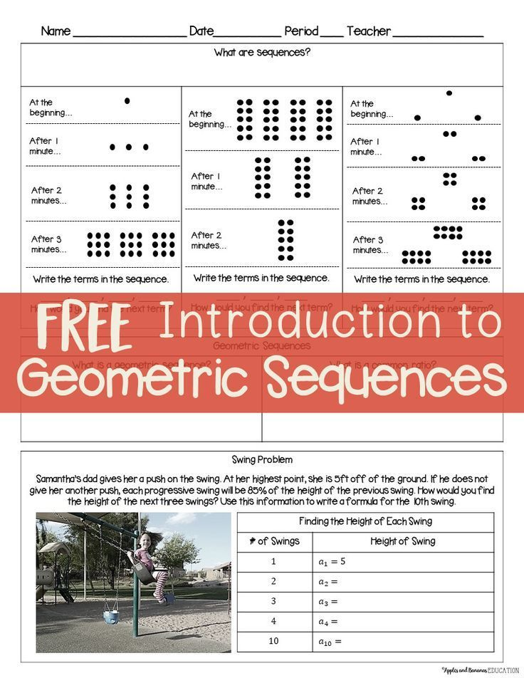 Introduction to Geometric Sequences Guided NoteTaking