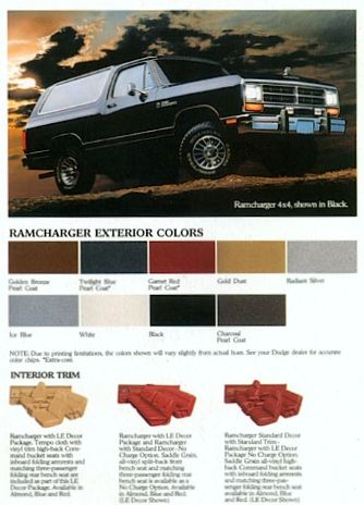 Ive Had Two Dodge Ramchargers And Would Take One Again If Gas Was Cheaper Dodge Ramcharger Old Dodge Trucks Mopar