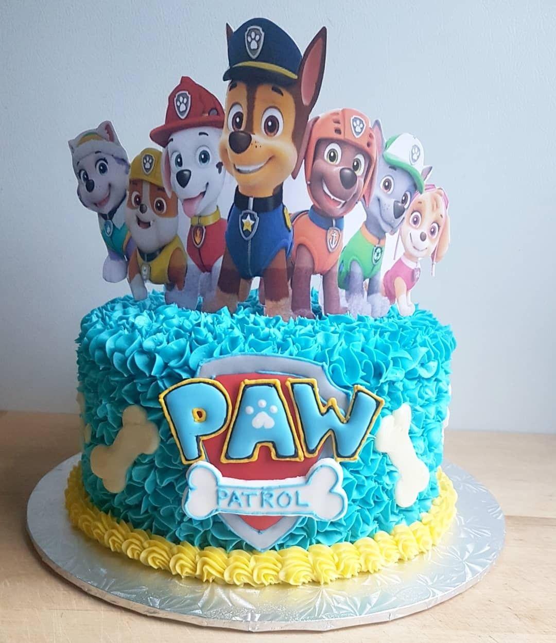 Paw patrol cake  All buttercream Birthday cake