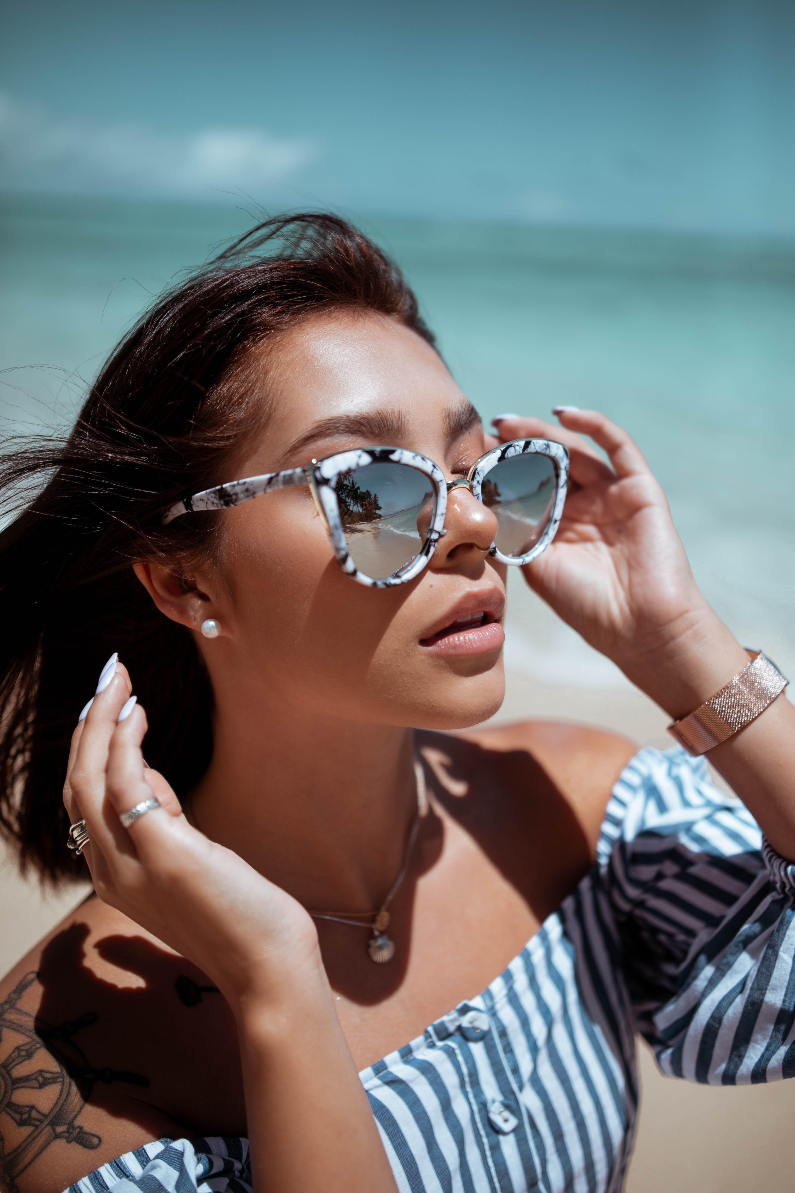 Vintage Inspired Oversized Cat Eye Sunglasses Silver Lens Cat Eye Sunglasses Women Sunglasses Blue Lenses