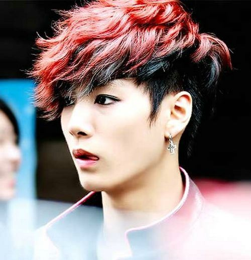 2014 Cool Red Asian Hairstyles Men Men Hair Color Red Hair Men