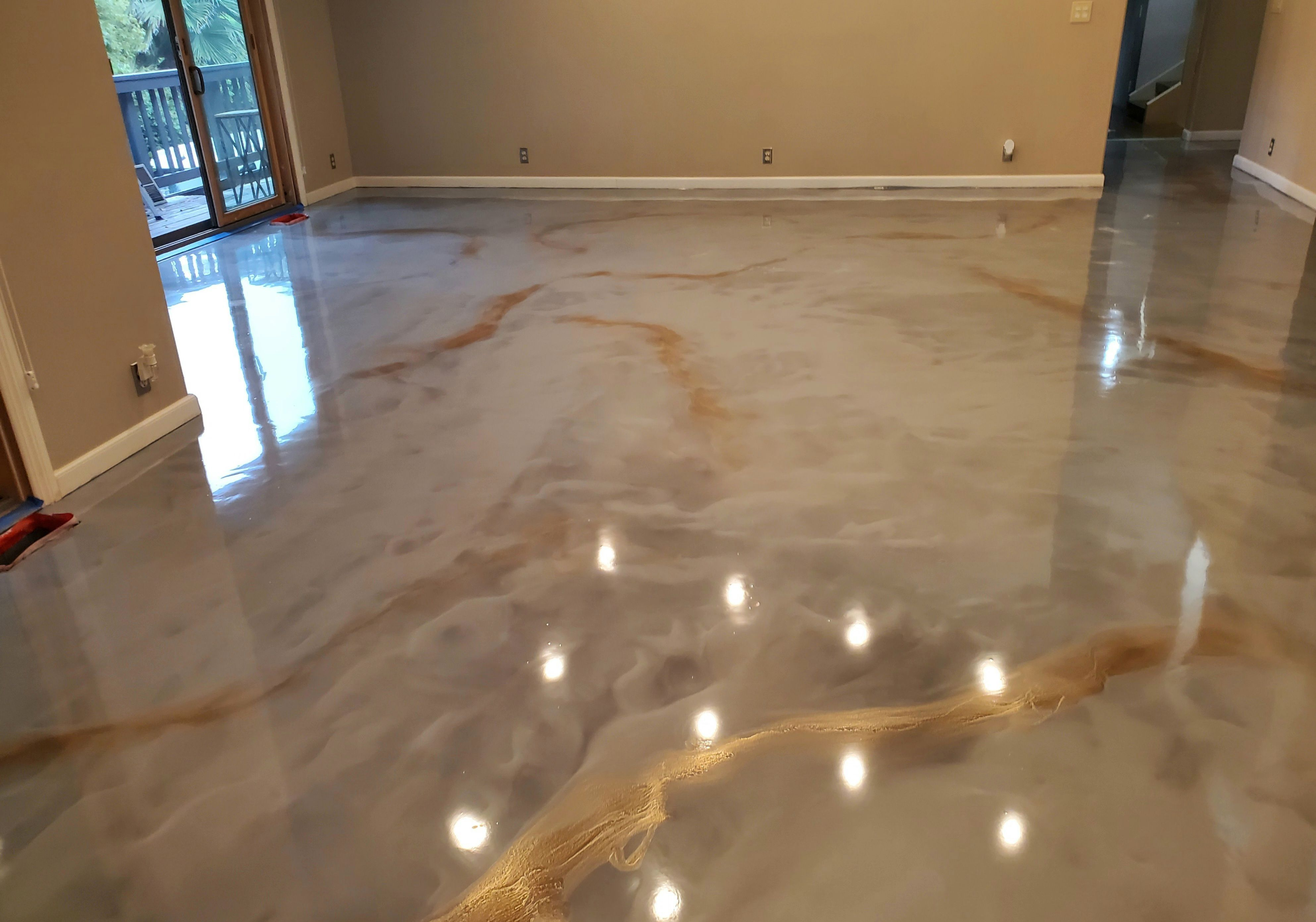 Pin On Kitchen Design #stained #concrete #living #room