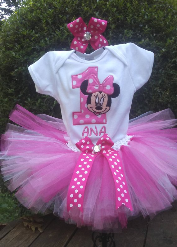 6d6e61bef Hot Pink Minnie Mouse 1st Birthday Outfit Pink Minnie Mouse Birthday Outfit  Minnie Mouse 1st Birthda