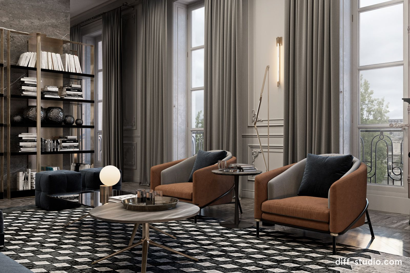 Apartment Overlooking The Louvre Luxury Apartments Interior Apartment Interior Living Room Inspiration
